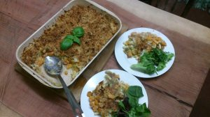 squash and leek macaroni cheese